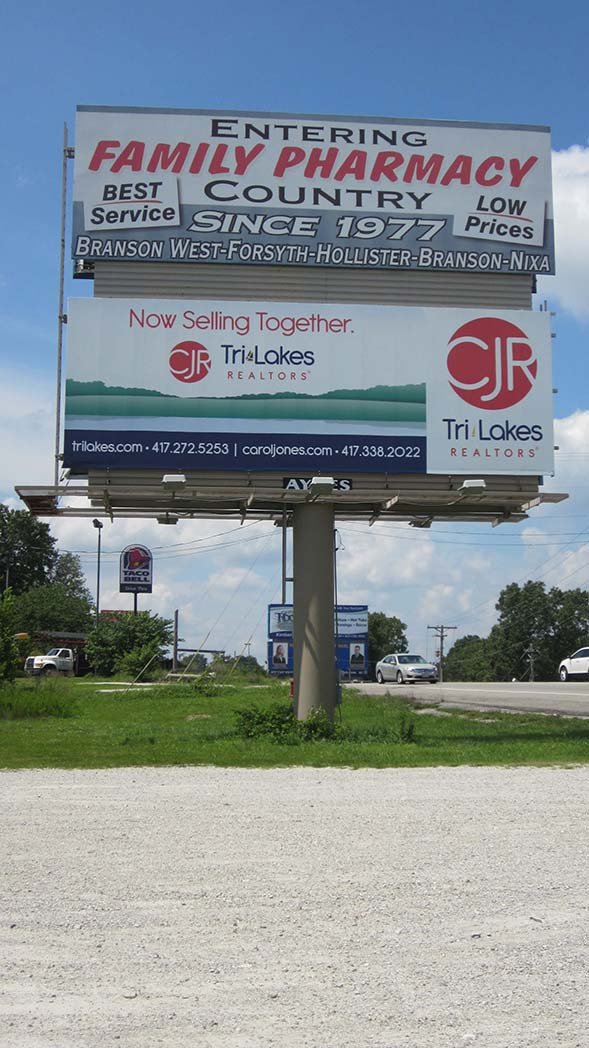 West Bound (THE TOP FACE ON THE WESTBOUND SIDE OF THIS BILLBOARD IS CURRENTLY AVAILABLE FOR LEASE!)